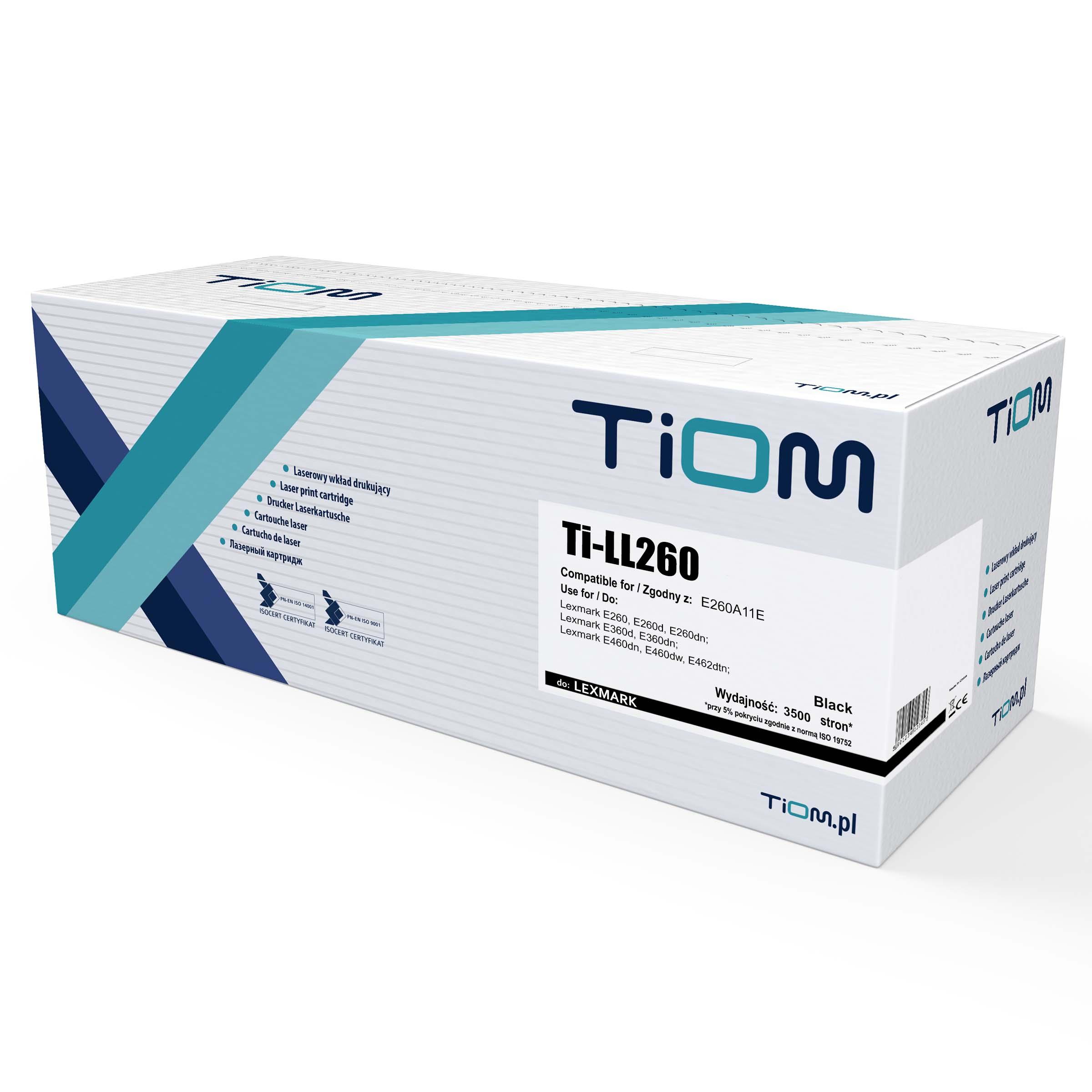 Ti-LL260 Toner Tiom do Lexmark E260 | E260A11E | 3500 str. | black