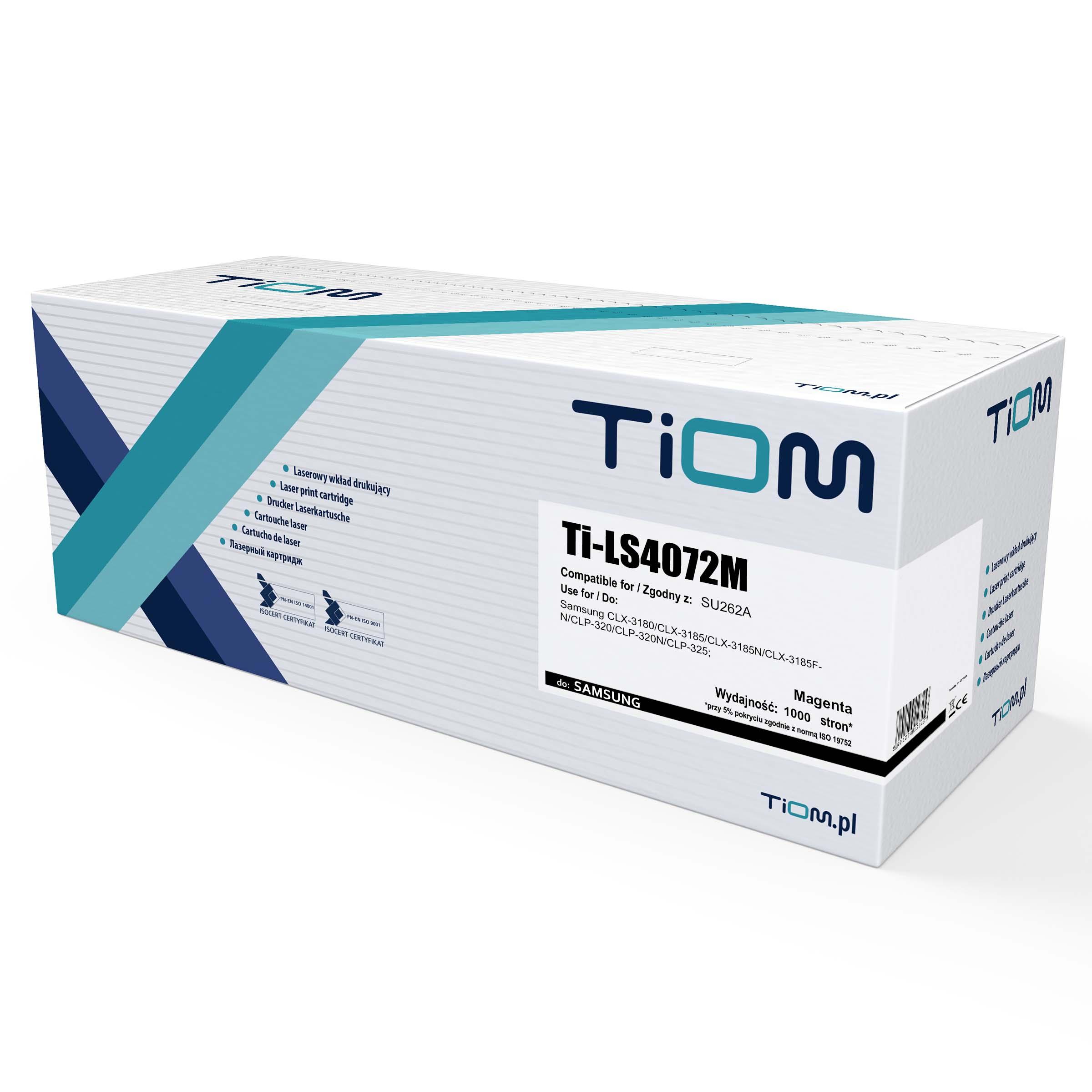 Ti-LS4072M Toner Tiom do Samsung M4072 | SU262A | 1000 str. | magenta